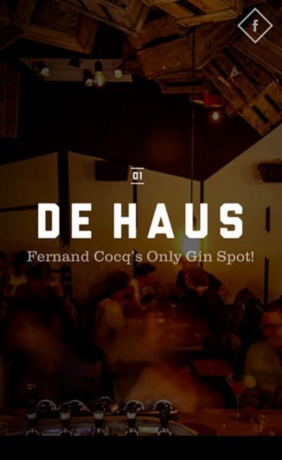De Haus – Brussels bar & caféのレスポンシブWebデザイン