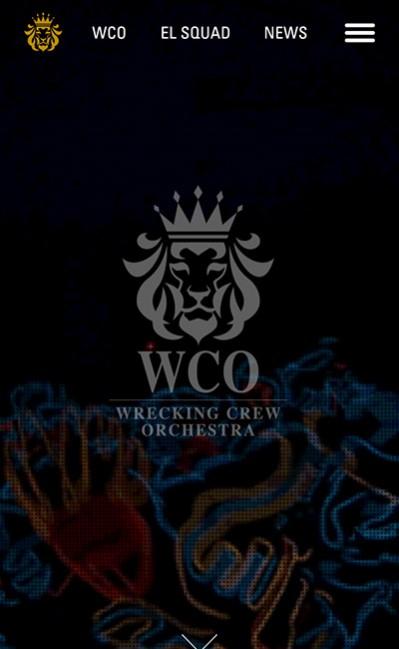 WRECKING CREW ORCHESTRAのレスポンシブWebデザイン