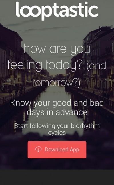 Looptastic biorhythmのレスポンシブWebデザイン