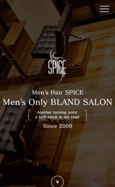 Men's Hair SPICEのレスポンシブWebデザイン