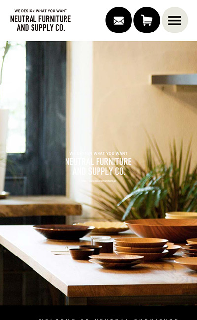 NEUTRAL FURNITURE AND SUPPLY CO.のレスポンシブWebデザイン